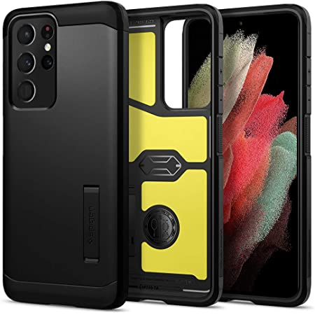 Spigen Tough Armor Designed for Galaxy S21 Ultra Case (2021) - Black