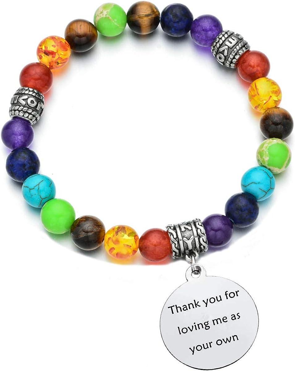 Pdouself Stepmom Sales for Sale SALE% OFF sale Bonus Mom Gifts Bracelets Healing Beads Chakra