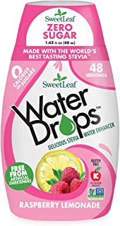 SweetLeaf WaterDrops, Raspberry Lemonade, 1.62 Fl Oz (Pack of 1)