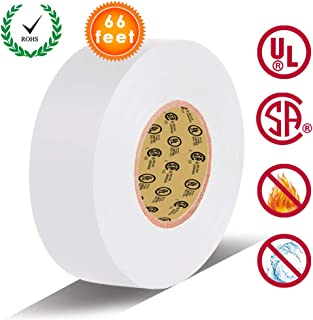 White Electrical Tape by LYLTECH, Pass UL/CSA Certification. Waterproof,Flame..