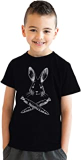 Crazy Dog T-Shirts Youth Jolly Roger Easter Tshirt Funny Skull Crossbones Bunny Tee for Kids