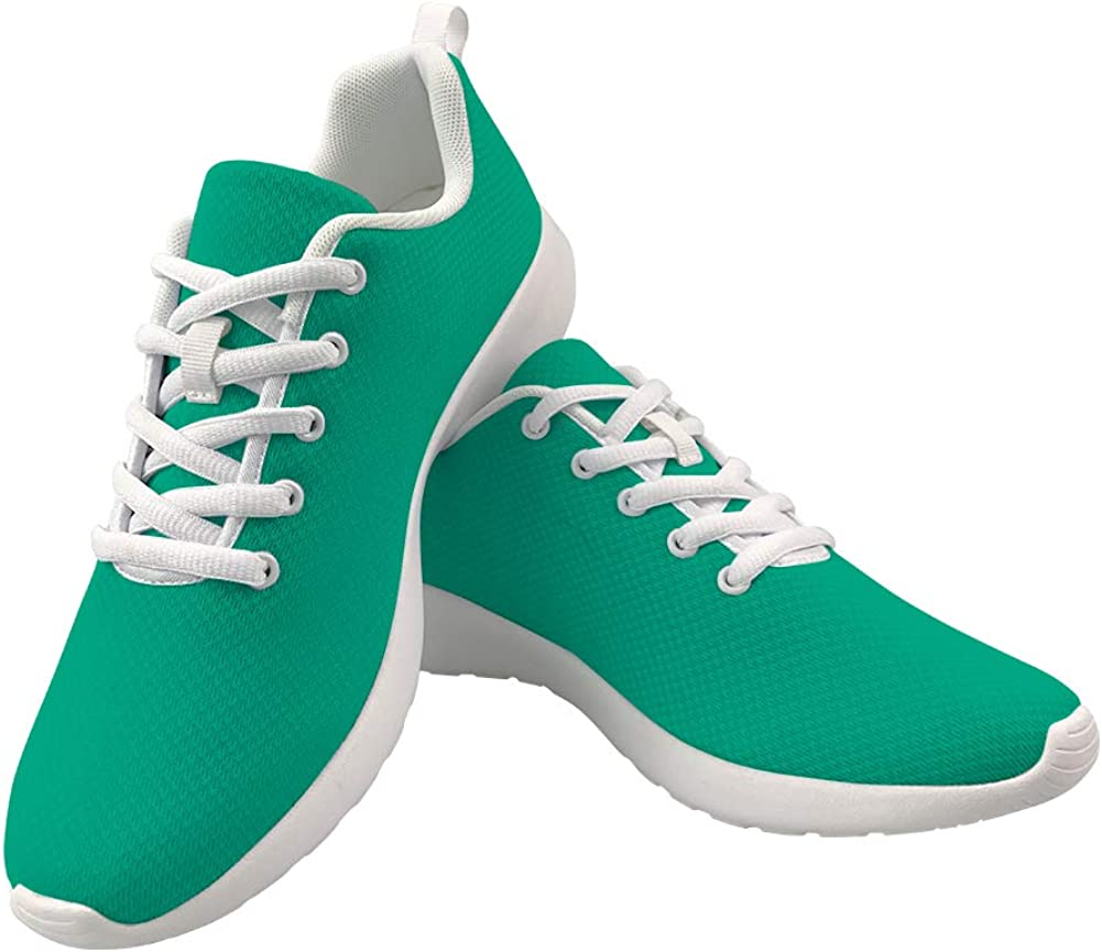 Green Walking Shoes for Women Solid Color Fashion Sneakers Running Sport Shoes Teen Girls Outdoor Walk Shoes
