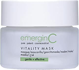 emerginC Vitality Mask - Hydrating Soothing Face Mask with Coq10 + Shea Butter for Sensitive + Dry Skin Types (1.6 Ounces, 50 Milliliters)