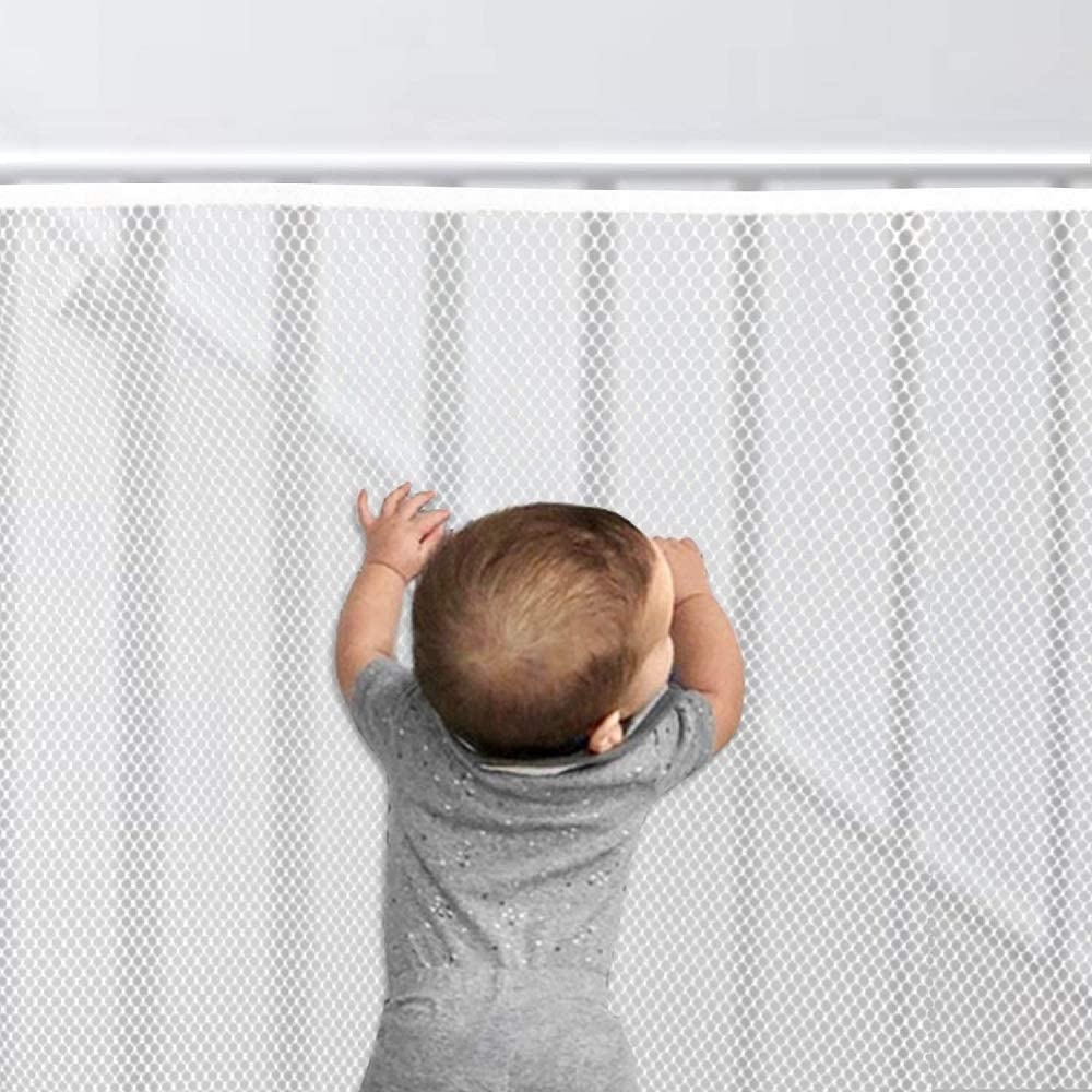 Banister Guard 10' x 2.5' (L x H), Child Safety Stairs Rail Net, Baby Proofing Balcony Patios Railing Stairs Guard Mesh for Falling Toy/Baby Pet/Toddler,Decent Mesh Fabric