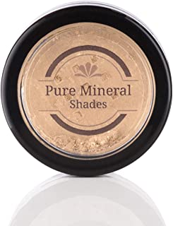 Mineral Highlighter Makeup by NuBeauti - Loose Powder With Free Brush - Adds Natural Facial Contour - Highlighting Illuminator for Face and Body - Professional Sleek Results - Golden Sand 1.5 grams