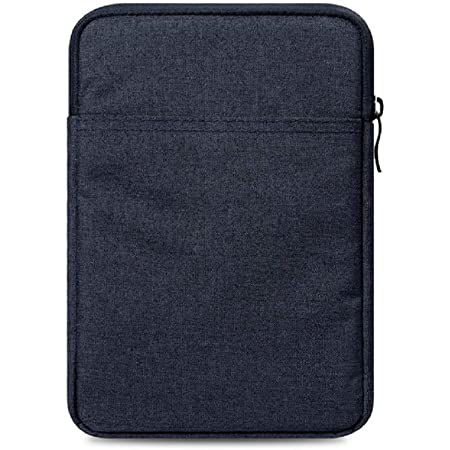 Grey and White Tablet Sleeve iPad Sleeve Book Sleeve Zipper Pocket Ready to Ship E-Reader Sleeve
