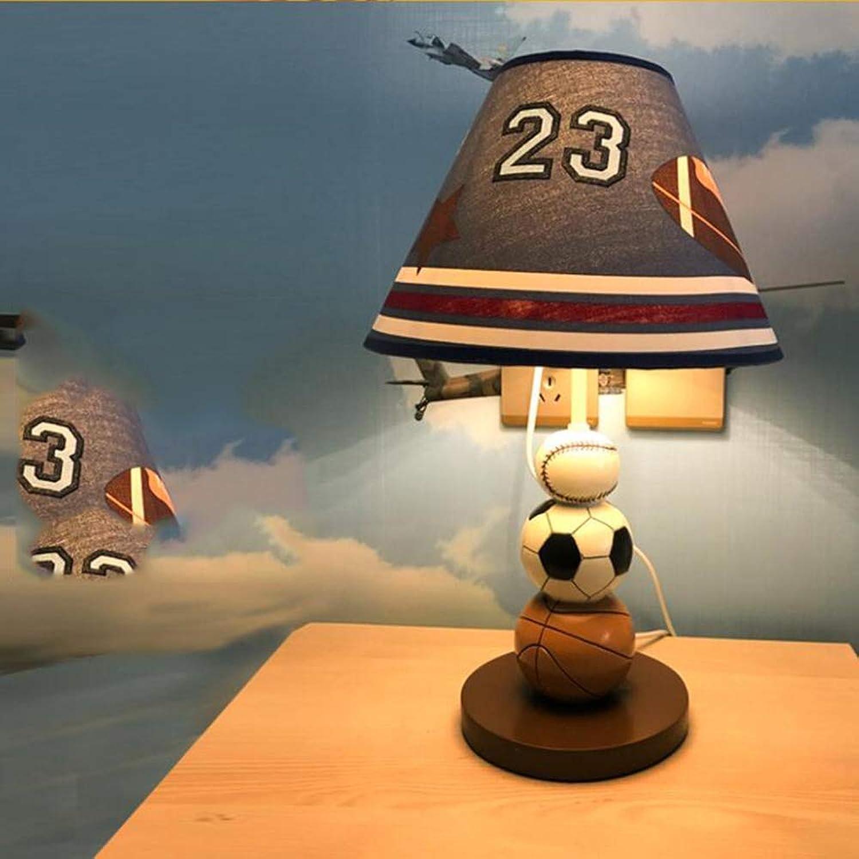 HRFHLHY Boy Schlafzimmer Nachttischlampe Kinder-Cartoon Fußball- Rugby-Muster Dekoration Tischlampe LED Glühlampen,A B07L4PTG4C | Discount