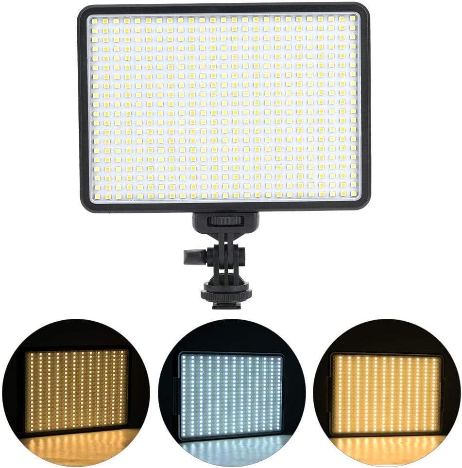 Vbestlife Camera Video Fill Light US 3200K-5600K,1//4 Screw Hole PAD360 Video LED Light 3200-5600K Stepless Dimmable with NP-F550 Battery Charger