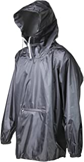 Raincoat Easy Carry Wind Rain Jacket Poncho Coat Outdoor,Black/Green one Size,Updated Version