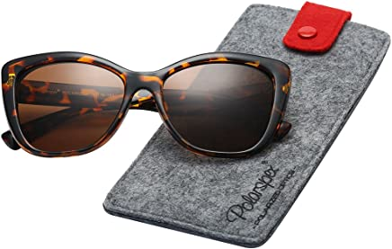 ad597d93bc Polarspex Polarized Women s Vintage Square Jackie O Cat Eye Fashion  Sunglasses