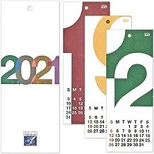 HANABUSA(はなぶさ) 2021 小型壁掛けカレンダー B(数字フォルム) カラフル