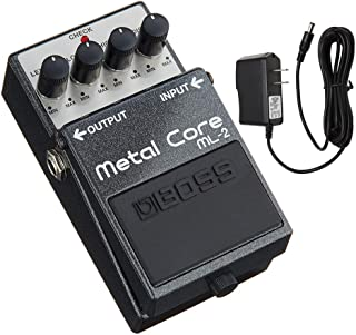 Boss ML-2 Metal Core Distortion Pedal with PigHog PP9V Pig Power 9V DC 1000ma Power Supply