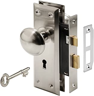 Prime-Line E 2330 Mortise Keyed Lock Set with Satin Nickel Knob – Perfect for Replacing..