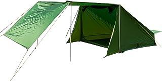 OneTigris Tigersden skydd med fyra tältstänger bagarstil tält med veranda för 4 personer flervägsförpackning