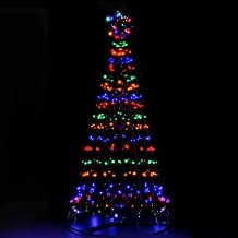 LED Christmas Tree 7FT Solar Powered Standing Lighted Decor 2.1M Waterproof Jingle Jollys Outdoor Indoor Festive Home Lawn...
