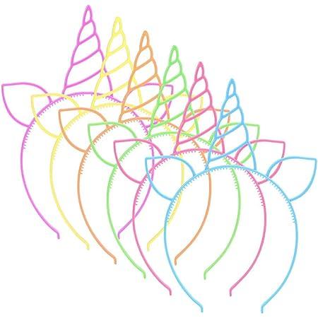 Yuccer 18 Pack Plastic Unicorn Hairband Unicorn Horn Headband Unicorn Party for