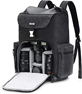 CADEN Professional Waterproof DSLR Camera Backpack Bag Canvas with Laptop Compartment 14