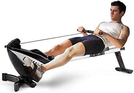 Goplus Magnetic Rowing Machine Folding Rower with LCD Display and Adjustable Resistance Exercise Cardio Fitness Equipment