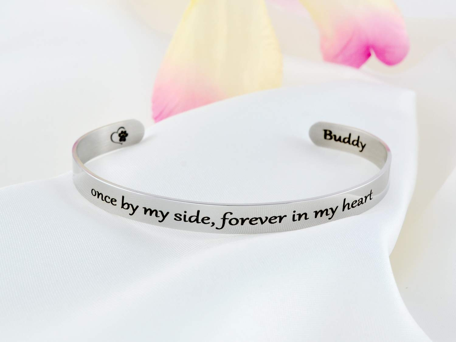Once by Award-winning store My Side Forever in Steel Stainless Cuff Brac Max 48% OFF - Heart