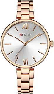 CURREN Original Women's Girls Sports Waterproof Stainless Steel Quartz Wrist Watch 9017
