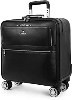 Trolley case Carry-On Expandable Suitcase Luggage with Wheels with Spinner Reaction of Bounds Lightweight Checked Leather ...