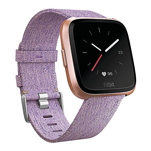 EZCO Bands Compatible with Fitbit Versa / Versa 2 / Versa Lite, Woven Fabric Breathable Watch Strap Quick Release Replacement Wristband Accessories Compatible Versa Smart Watch Women Man