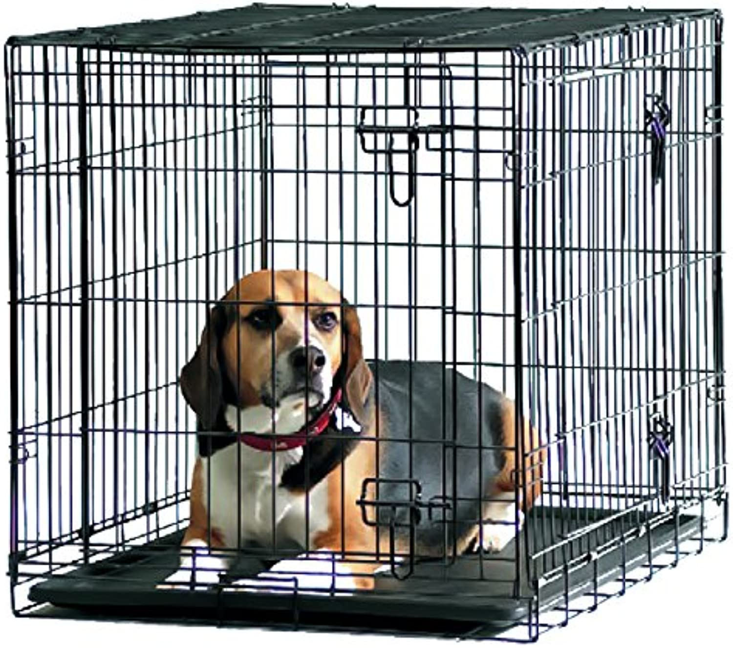 Savic Dog Cottage 91 Cm Dog Crate Black Powder Coated 91 X 57 X 62 Cm