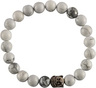 Spiritual Elementz Reiki Charged Howlite Gemstone Bracelet (7-8 mm) (21-24 Beads) (Stone of Absorbing Anger)