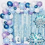 upain Kit arche et guirlande de ballons La Reine des Neiges, ballons en latex métallisés, décorations pour mariage, anniversaire, fête prénatale