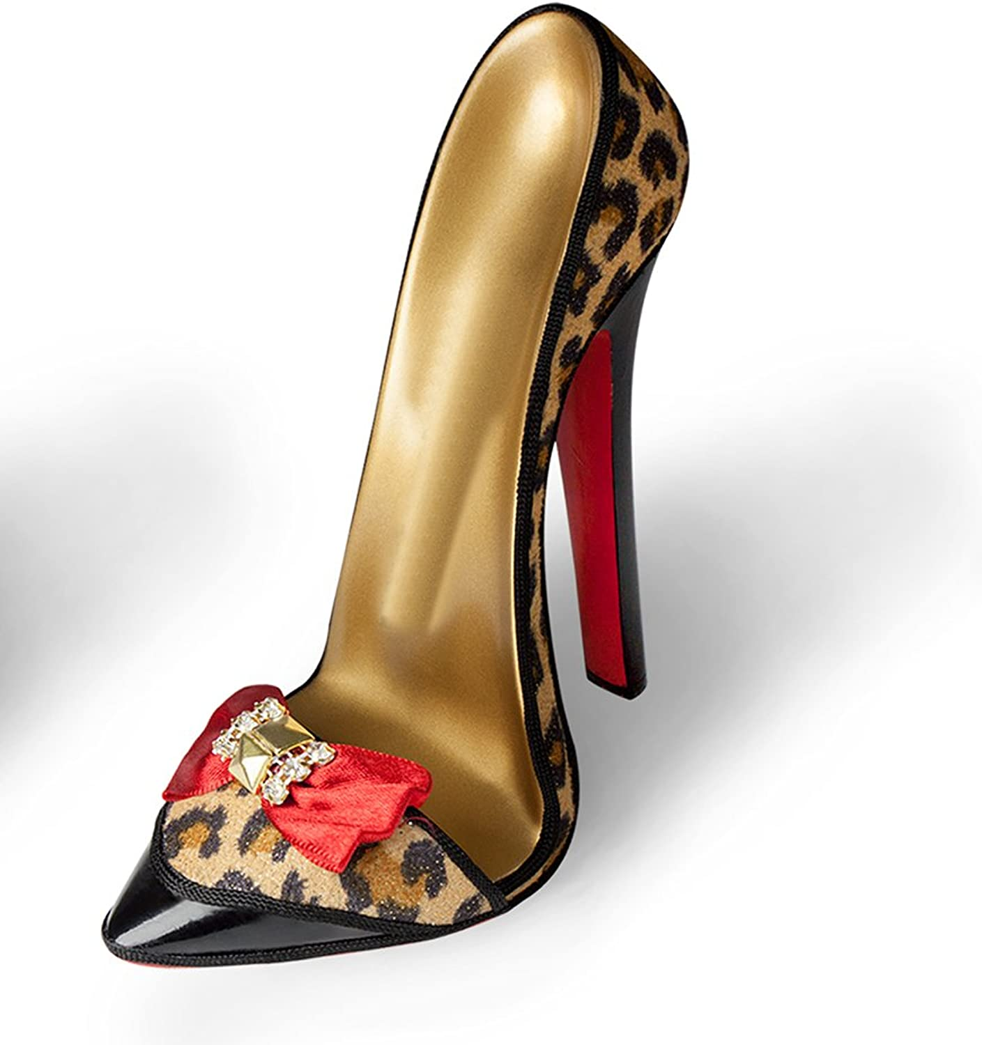 Stiletto shoes Stand - Red Bow Leopard