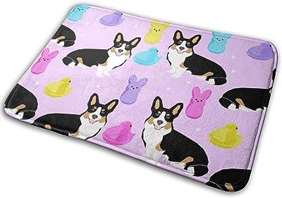 "Tri Corgi Easter Dog Peeps - Peeps, Dog, Corgi, Cute Dog, Dogs - Purple_28128 Doormat Entrance Mat Floor Mat Rug Indoor/Outdoor/Front Door/Bathroom Mats Rubber Non Slip 23.6"" X 15.8"""