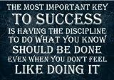 Poster mit motivierendem Zitat, Schlüssel zum Erfolg