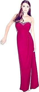 926e408e22b Lipsy VIP Sweetheart Tissu à Motif Cuisse Split Maxi Robe Rose £130
