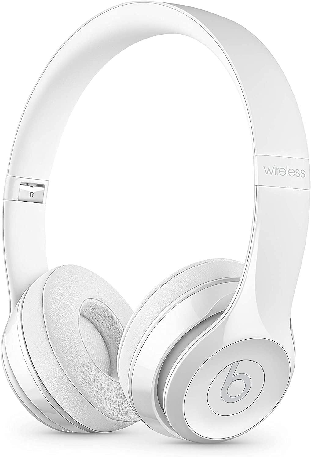 Beats Solo3 Wireless On-Ear Headphones - Gloss White (Renewed)