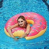 GUBOOM Flotador Inflable de Piscina, Flotador Inflable Gigante para Piscina de Donut Flotador Inflable de Piscina Inflables Fruto Anillo de Natación Verano El Aire Libre de la Playa