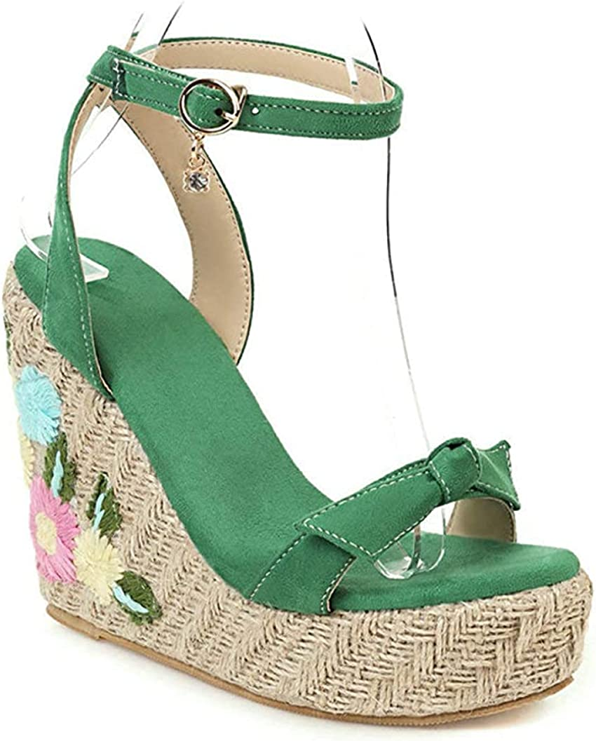 Max 40% OFF Open Toe Wedge Ankle Strap Sandals Womens Max 67% OFF Faux for Suede Ladies