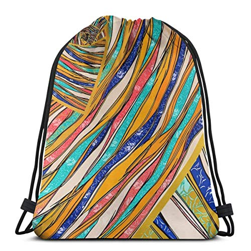 LREFON Gimnasio Bolsas con cordón Mochila Pythons Sackpack Tote para viajar Almacenamiento Organizador de zapatos Hombro escolar Compras Niños