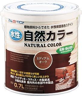 アトムハウスペイント 水性自然カラー(天然油脂ステイン) 0.7L ミディアムオーク