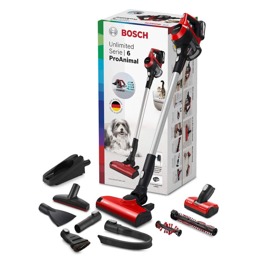 Bosch Unlimited ProAnimal Serie|6 Aspirador sin Cables, 2 Velocidades, Rojo: Amazon.es: Hogar