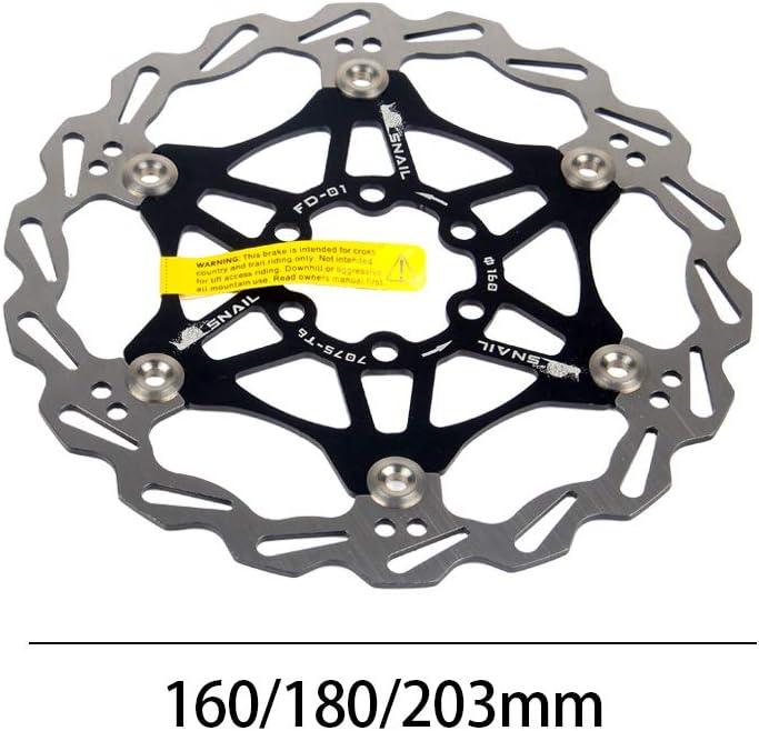 Rotore del freno a disco flottante per bicicletta con 6 bulloni Disco freno flottante Blocco centrale Accessori per biciclette per MTB Mountain Road Bike