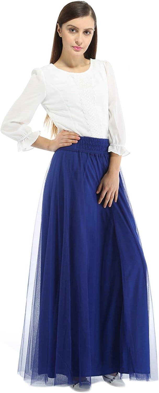 URVIP Women's Vintage Rock Top-Model Underskirt/Summer Long Skirt for Ladies & Girls