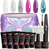 Astound Beauty Polygel Nail Kit - with Clear and Shimmer Glitter Polygel Colors Kit