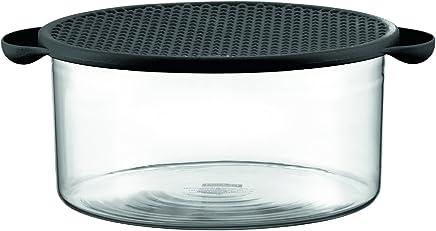 Preisvergleich für Bodum HOT POT Schale mit Deckel (Spülmaschinen-, Ofen-, Gefrierfach- geeignet, 2,5 liters) schwarz