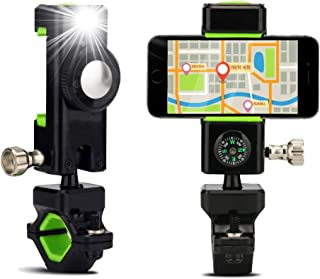 Universal Bike Phone Mount for Motorcycle Bike Handlebar Adjustable Silicone Bicycle Holder for All iPhone Android Samsung Galaxy Smartphones GPS Road Mountain Mounts
