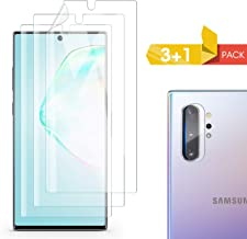 Screen Protector for Samsung Galaxy Note 10,Include a Camera Lens Protector, TPU Flexible Film with 3D Curved HD Clear Full Coverage for Samsung Galaxy Note 10, 6.3 inch 【3+1 Pack】