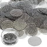 150 Stück Edelstahl Screen Rohr Filterung Rauchen Pfeife Sieb Filter 3/4 Zoll mit Aufbewahrungsbox -