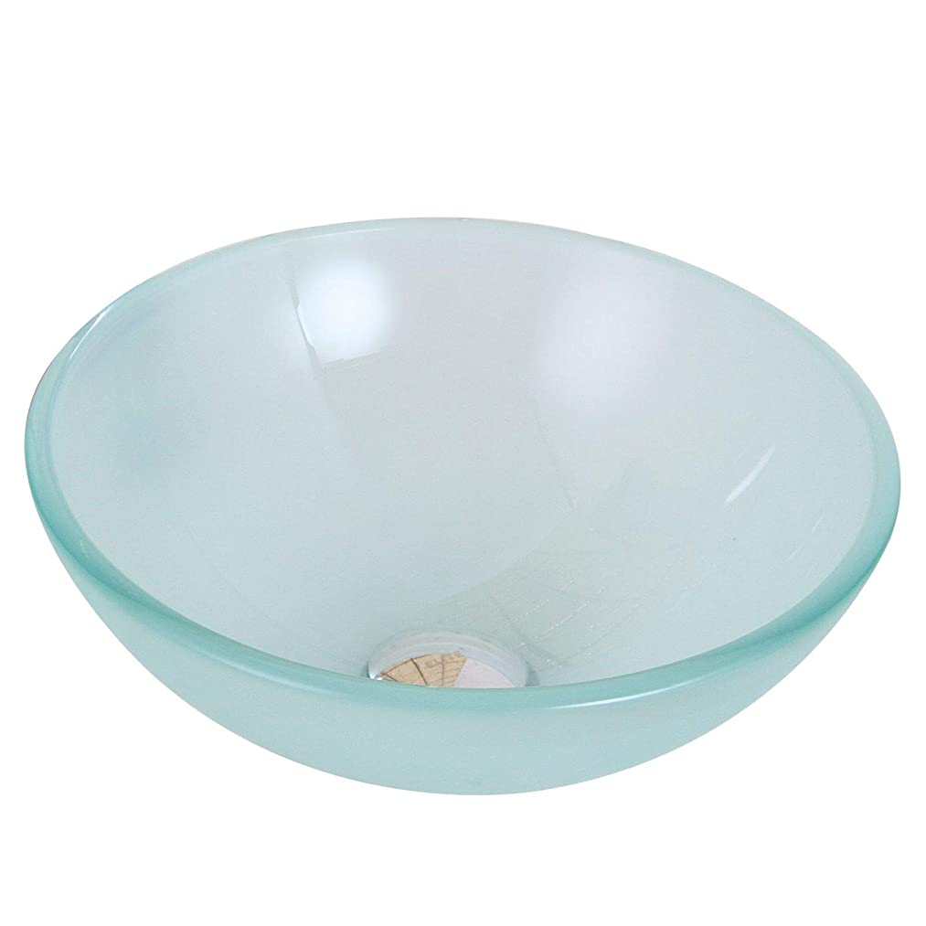 Double Layered Tempered Glass Round Bathroom Sink Drain Finish: Chrome