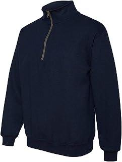 Gildan Mens Heavy Blend 8 oz. Vintage Classic Quarter-Zip Cadet Collar Sweatshirt(G188)-Navy-L