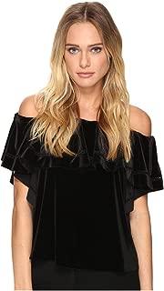 Women's Gaia Off The Shoulder Top Black Shirt