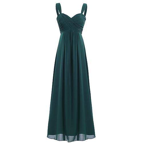 Freebily Vestido Largo de Fiesta Cóctel Boda para Mujer Dama de Honor Vestido Noche Elegante de Tirantes